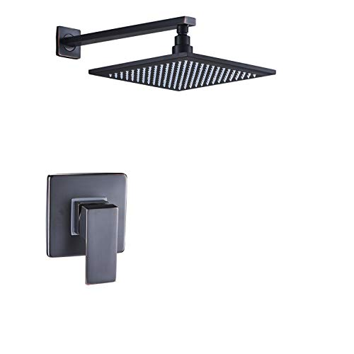 Rozin Wall Mounted 10-inch Top Rainfall Shower Head + One-Function Mixer Valve Control ORB Finish