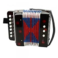 Other Musical Instruments - Accordion-103 Plastic ABS 7 Keys 3 Button Kids Small Child