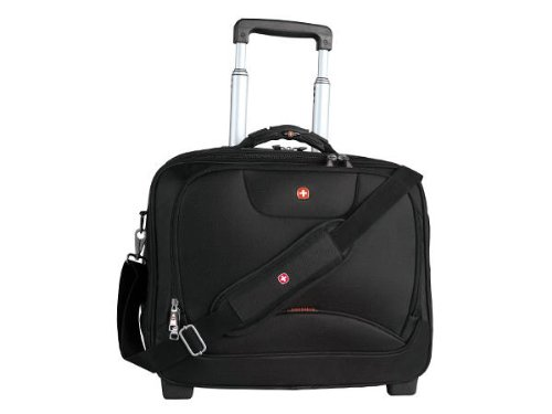 Swiss Gear SWA0568 Wheeled Business Case with Laptop Sleeve (Black) Swissgear