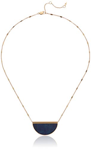 Fossil Women's Half-Moon Jade Necklace, One Size