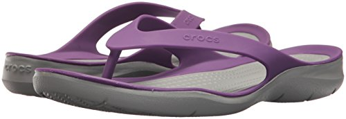 Crocs Women Infradito Swiftwater light Flip Grey Amethyst Donna S1OaZCxqw