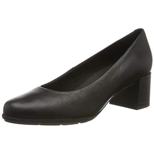 chollos oferta descuentos barato Geox D New ANNYA Mid A Zapatos con Tacón para Mujer Negro Black C9997 35 EU
