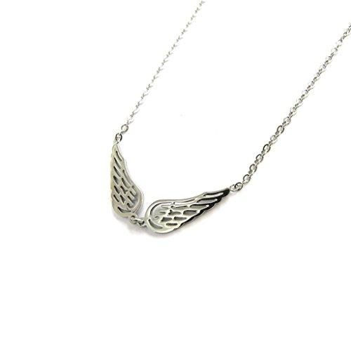 Necklace steel 'Les Ailes D'ange' chromium.