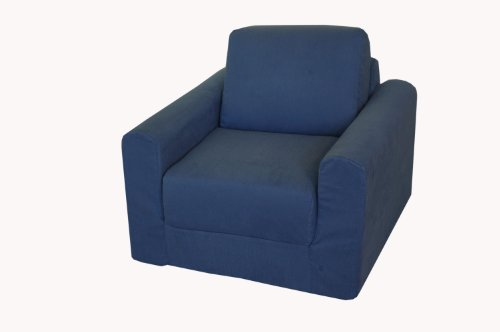 Fun Furnishings Chair Sleeper, Denim