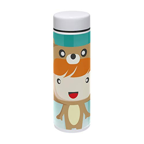 Water Bottle Boy In Bear Costume Sports Insulated Stainless Steel Coffee Mugs Leak Proof Travel Thermos Personalized DIY 7 -