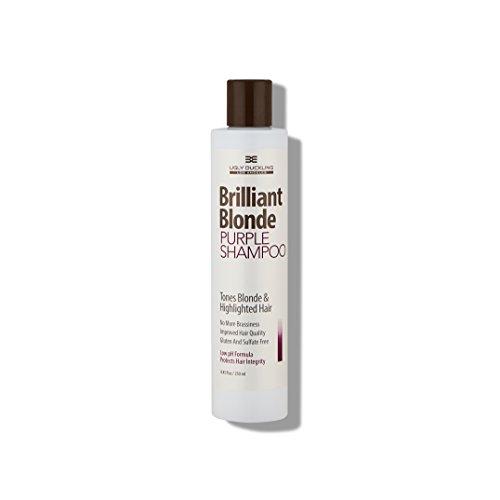 - Brilliant Blonde Purple Shampoo 8.4 oz (250 ml). Tones Blonde & Highlighted Hair. Low pH Formula, Sulfate Free, Gluten Free
