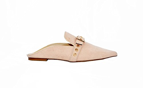 Image of Jacobies Women's Casual Slip on Pointed Toe Sandal (6.5, Blush Suede)