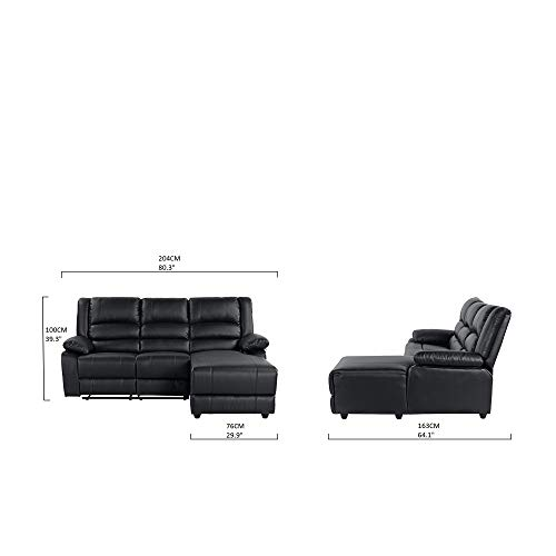 Milano Leather Recliner Sofa: Best Case Andrea Milano Bonded Leather Sectional Sofa With