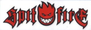 (Spitfire Wheels - Red Logo on Clear - Sticker / Decal)