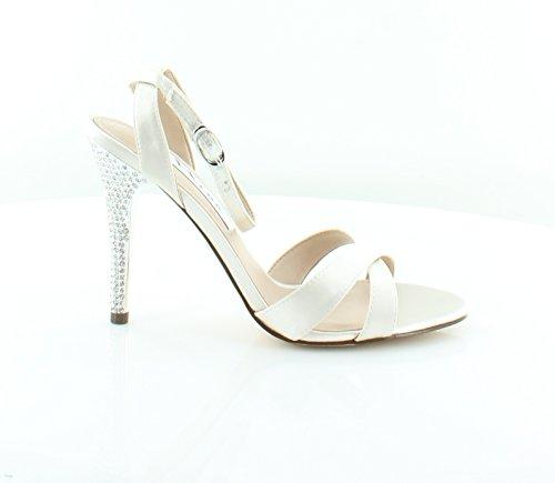 Nina Women's Meryly Ivory Satin Sandal 7.5 M