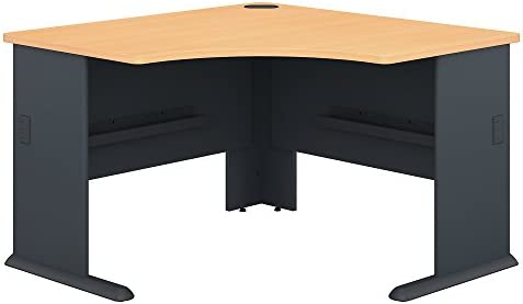Bush Business Furniture Series A 48W Corner Desk in Beech and Slate