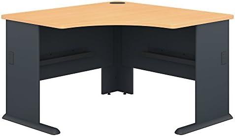 Bush Somerset 71 L Shaped Computer Desk with Hutch in Hansen Cherry