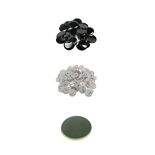 Sunshine 37mm Blank Badges & Buttons Parts for Badge & Button Making Machine (Holland-Pin Plastic-Back 100sets)