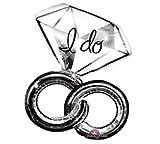 Amscan International Super/ Shape Wedding Rings