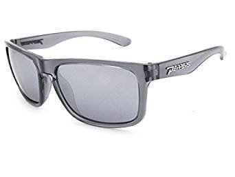 Pepper's Sunset Blvd Polarized Oval Sunglasses, Crystal Grey, 58 mm