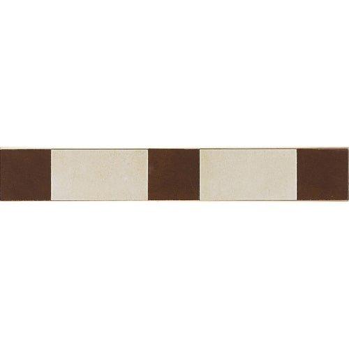 Deco Border Tile Flooring - Veranda Multicolor 3-1/4 in. x 20 in. Deco F Porcelain Border Floor and Wall Tile