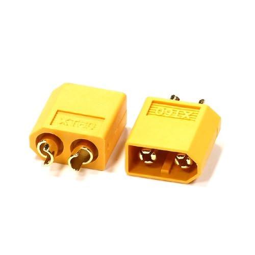 Integy RC Model Hop-ups C24547 XT60 Type Connector (2) Male 3.5mm