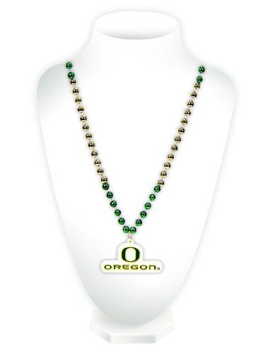Logo Beads - Rico NCAA Oregon Ducks Team Logo Mardi Gras Style Beads