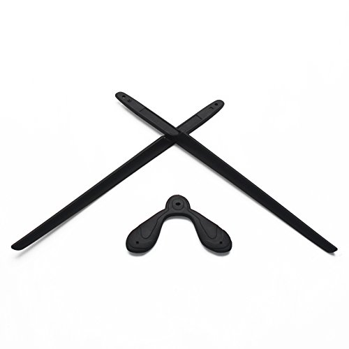 EyeOpeningStuff Replacement Earsocks & Nosepiece Rubber Kits for Rudy Project Rydon Sunglasses (Black, ()