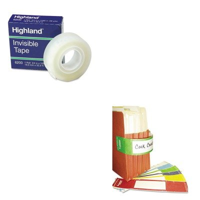 KITMMM6200341296TAB68809 - Value Kit - Tabbies File Pocket Handles (TAB68809) and Highland Invisible Permanent Mending Tape (MMM6200341296) by Tabbies