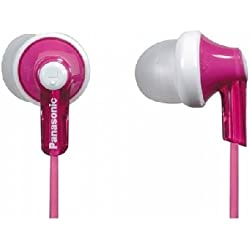 Panasonic ErgoFit In-Ear Earbud Headphones Dynamic Crystal Clear Sound, Ergonomic Comfort-Fit (Pink)