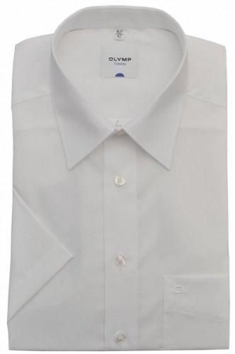 Olymp Tendenz kurzarm Hemd - weiß, Kragenweite:41
