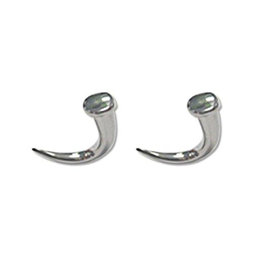 Lex & Lu Pair of Cast Steel Taper Expander Plug Talon 8-00G Earrings-103