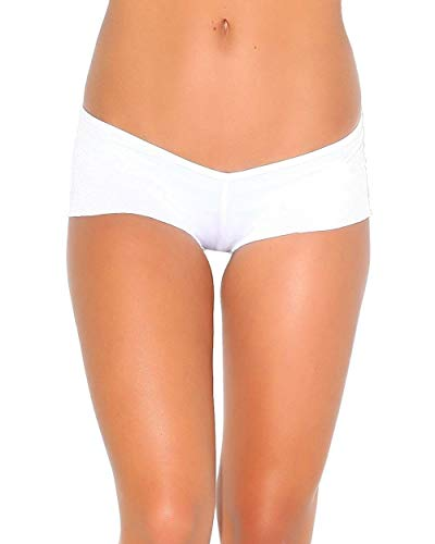 White Scrunch Back Micro Shorts (One size for all) by iHeartRaves