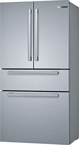 Bosch 800 Series B36CL80SNS 36 Inch Smart Freestanding Counter Depth 4 Door French Door Refrigerator with 20.5 cu. ft. Total Capacity in Stainless Steel (Bar Handle)