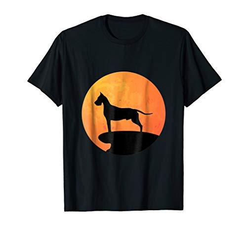 Great Dane Halloween Costume Shirt Dog Owner Gift Moon Tee