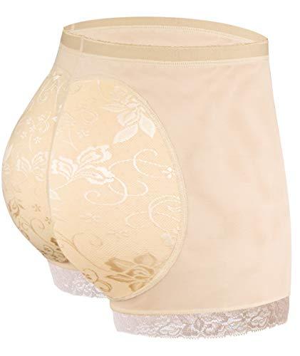NINGMI Women Butt Lifter Padded Shapewear Enhancer Control Panties Body Shaper Underwear Nude