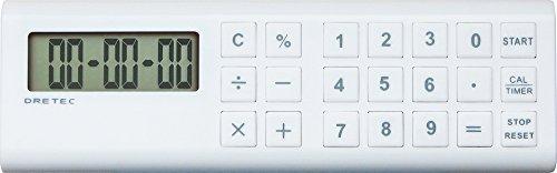 Doritekku with calculator long timer bar white CL-117WT