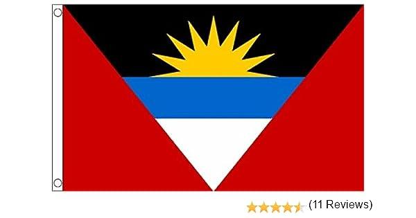 NONE Bandera de Antigua y Barbuda: Amazon.es: Hogar