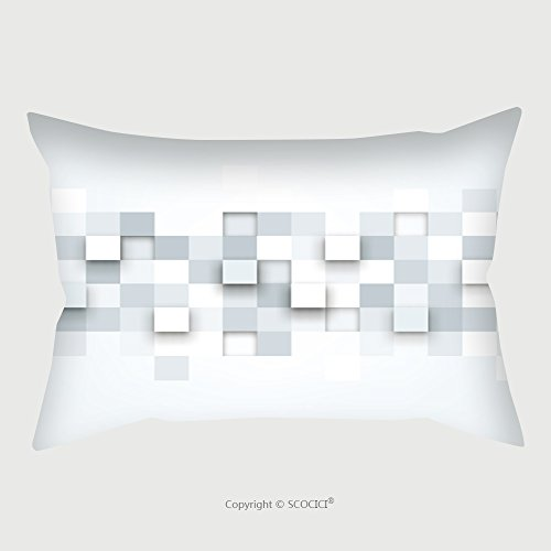 Custom Satin Pillowcase Protector Vector Background Illustration Of Abstract Texture With Squares Pattern Design For Banner Poster 224856823 Pillow Case Covers Decorative by chaoran