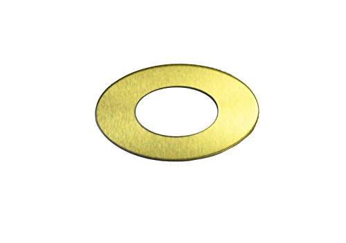 RMP Stamping Blank, 1.829 Inch Oval Washer with 0.921 Inch Center, Brass 0.032 Inch (20 Ga.) - 20 Pack