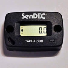 SenDec Surface-Mount Hour Meter with Tachometer, Model# 806