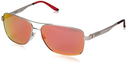 Carrera Men's CA8014S Polarized Rectangular Sunglasses, Matte Palladium & Red, 61 - Sunglasses Carrera Red