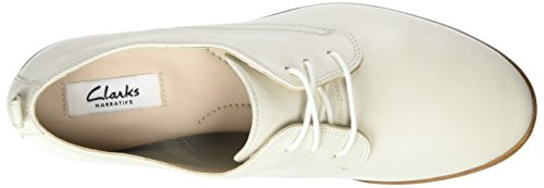 Clarks Alania Posey, Zapatos de Cordones Derby para Mujer Blanco (White Leather)