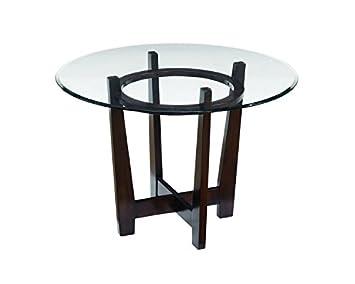 ashley furniture signature design charrell dining room table glass top round medium