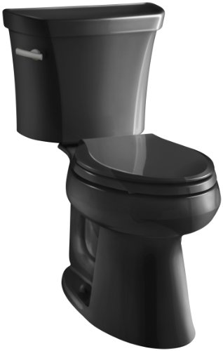 Kohler K-3979-7 Highline Comfort Height 1.6 gpf Toilet, Black Black