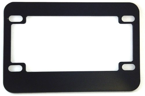 Chris Products 0610 Black Chrome Finish Motorcycle License Plate Frame
