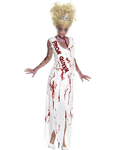 Women Prom Queen Role Play Long Dress Carnival Zombie Scary Costume Mummy Witch Halloween Clothes -