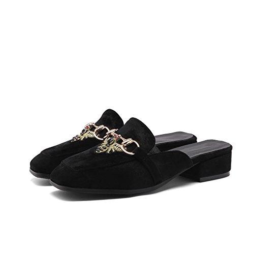 Flop Femmes Bas Flip QIN Black Sandals amp;X Talon pAq4n71X