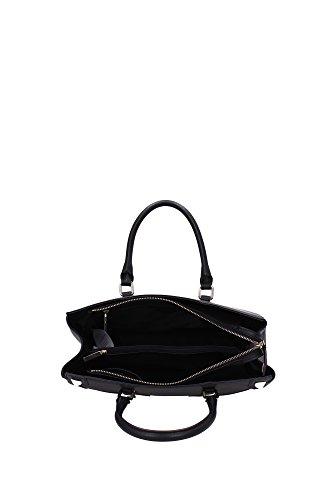 Handbag Indovina la gamma di cuoio Luxe per la donna con la spalla (nero)