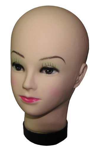 "10.5"" Female Mannequin Rubber Display Model Face Head Wig..."