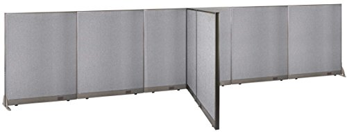 GOF T-Shaped Freestanding Partition 66d x 252w x 60h / Office, Room Divider by GOF