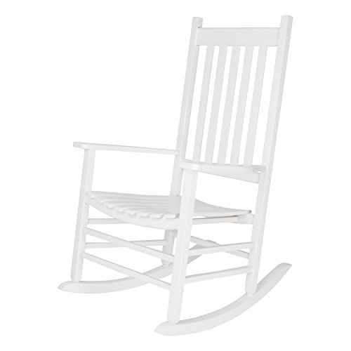 Wooden Rocker - Shine Company Inc. 4332WT Vermont Porch Rocker, White