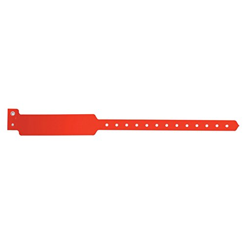 Sentry Superband 5050-16-PDM Write-On Wristband, Poly Clasp Closure, 1'' x 11 1/2'', Pediatric, Red (Pack of 500) by Sentry Industries Inc. (Image #1)