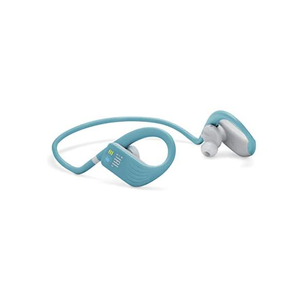 JBL Endurance Dive by Harman Waterproof Wireless in-Ear Sport Headphones with Built-in Mp3 Player (Teal) 2021 August 8 hours of uniteruppted music on full charge, Also the Battery Speed Charge gives you an hour of usage with just 10 minutes of charge A built in MP3 Player with 1GB memory allows you to store and access more than 200 music tracks directly from your headphones Never hurt, Never fall out, Thanks to Twist Lock and Flex Soft technologies, these earphones are with you all the time during your workout without the worry of falling off