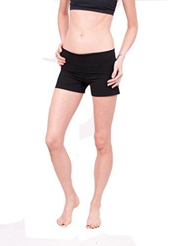 Hard Tail Rolldown Long Shorts (S, Black)
